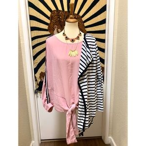 Beautiful pink long sleeve with stripes
